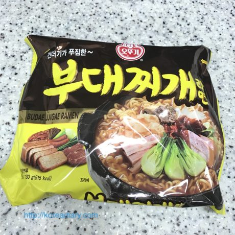 オットゥギのプデチゲラーメンを食べてみた。