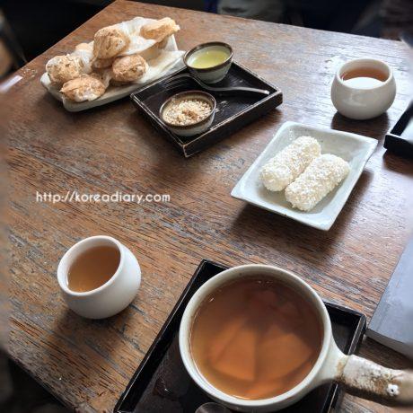 仁寺洞の可愛い韓茶カフェ パンチャッパンチャッピンナヌン