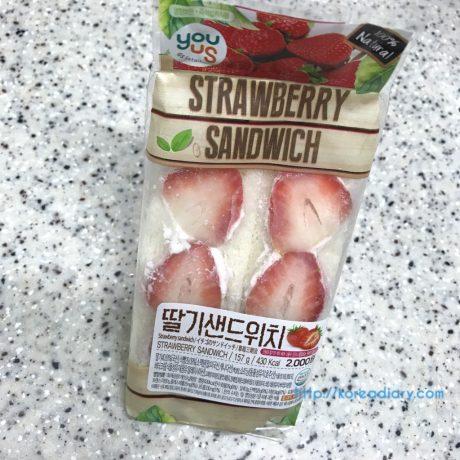 GS25のイチゴサンドイッチ♪