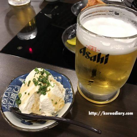 鍾路の日本料理屋あいわでミックスフライ定食