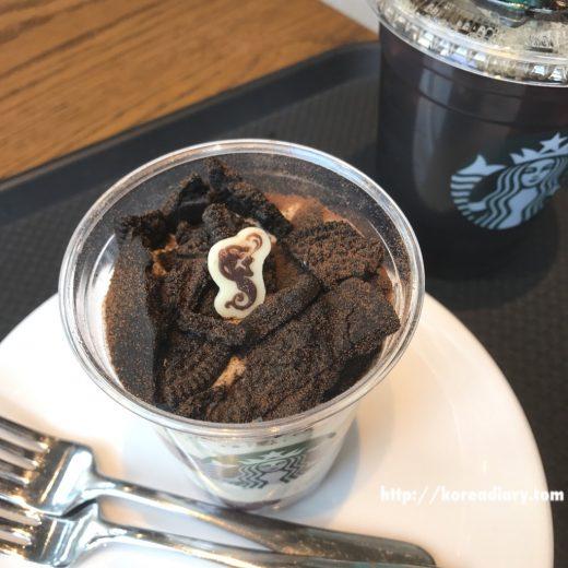 韓国スタバの新製品シェイククッキーケーキ♪