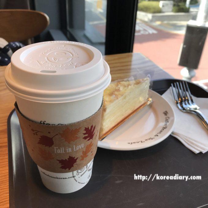 コーヒービーンのミルクレープ。
