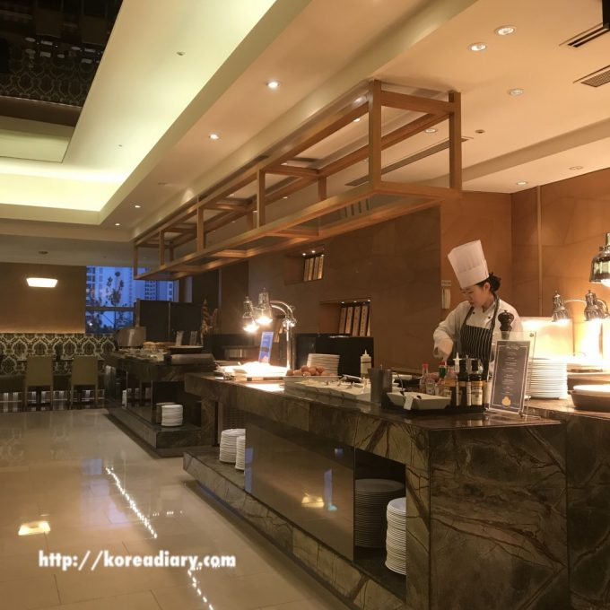 JWマリオットホテルソウルの朝食ビュッフェ