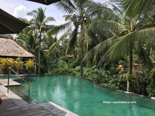 ウブド ワパデウマのプールや食事など。Wapa di Ume Resort