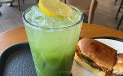 韓国スタバ 夏のドリンク 抹茶レモネード♪