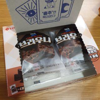 韓国ロッテのブラウニー。